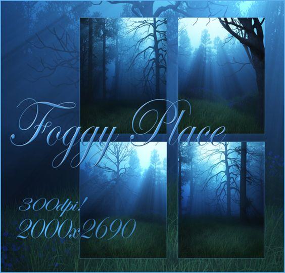 Foggy Place small pack by moonchild-ljilja on @DeviantArt