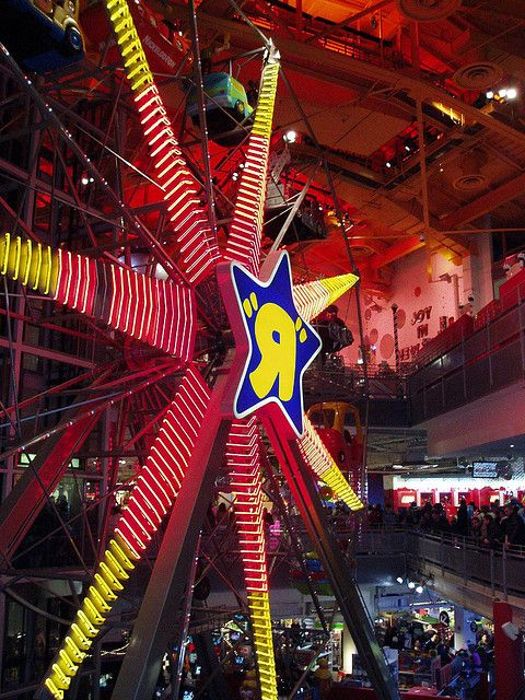 Ride the Ferris Wheel in Toys R Us, in Times Square