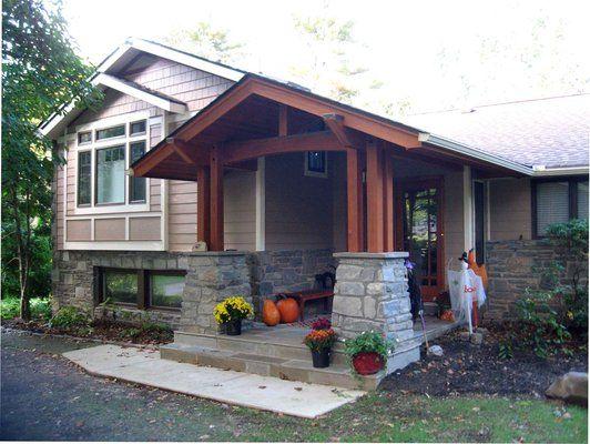 Home exterior color schemes for split level homes for Craftsman style split level homes