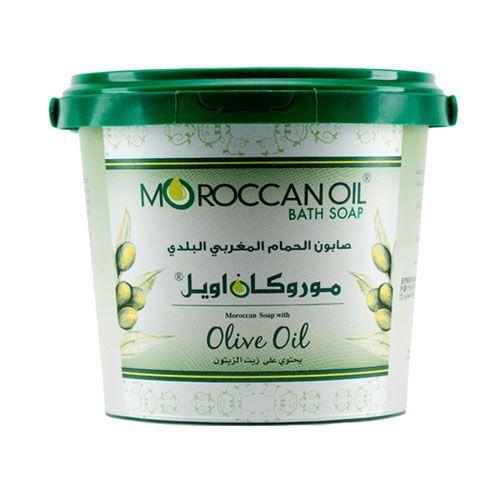 صابون الحمام البلدي المغربي بزيت الزيتون من موروكان اويل 850غ متجر راق Moroccan Oil Coconut Oil Jar Oils
