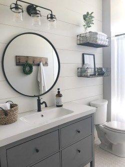 30 Stunning Modern Farmhouse Bathroom Decor Ideas Modern Farmhouse Bathroom Farmhouse Bathroom Decor Bathroom Makeover