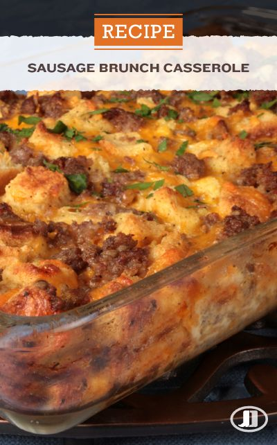Impress the whole family at your Sunday brunch with this wholesome Sausage Brunch Casserole. Combine Jimmy Dean Premium Pork Regular Sausage, eggs, seasoned croutons and sharp cheddar cheese for the perfect breakfast recipe. #Easter