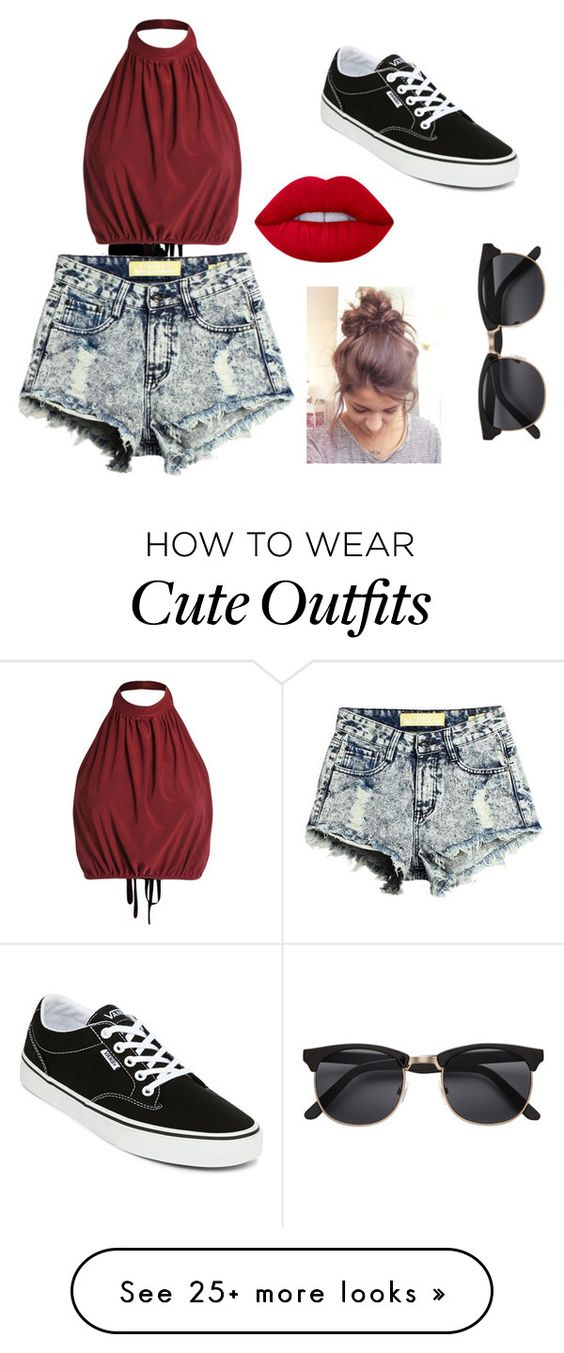 """My First Polyvore Outfit"" by hughesm158 on Polyvore featuring Vans and Lime Crime"