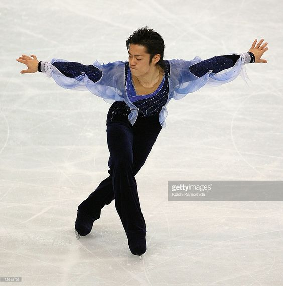 Daisuke Takahashi of Japan skates during the Men's Short Program during the World Figure Skating Championships at the Tokyo Gymnasium on March 21, 2007 in Tokyo, Japan.