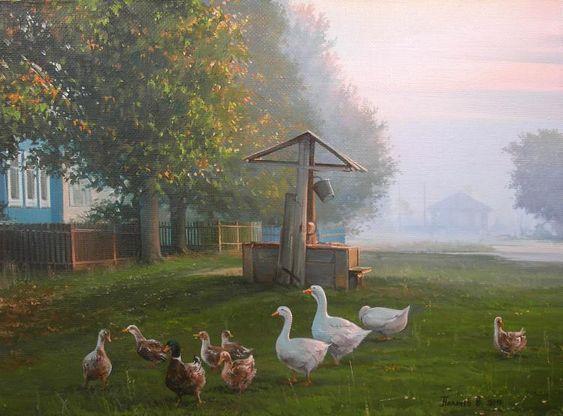 Rustic Morning, painting by Palachev Vyacheslav