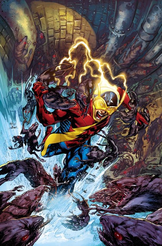 """Dc Comics, earth 2 character : The Flash new design!! from The New 52 'second wave'  Jay Garrick is the """"everyman"""" through which readers are introduced to the world of Earth 2. While the name Jay Garrick may be familiar to older DC readers as the elderly Golden Age Flash, in this comic, he's younger, as seen in our exclusive art for the cover of Earth 2 #2."""