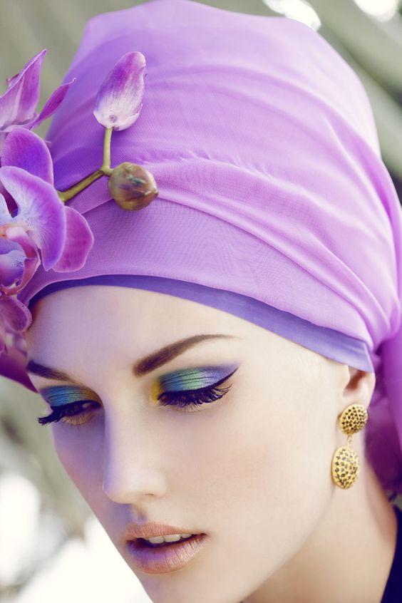 Purple + gold (+ blue + green)