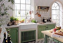 Küche im Landhausstil (Foto: Villeroy & Boch)