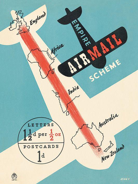 Giraffe Flags Airplane Vintage Airline Travel Art Poster Print