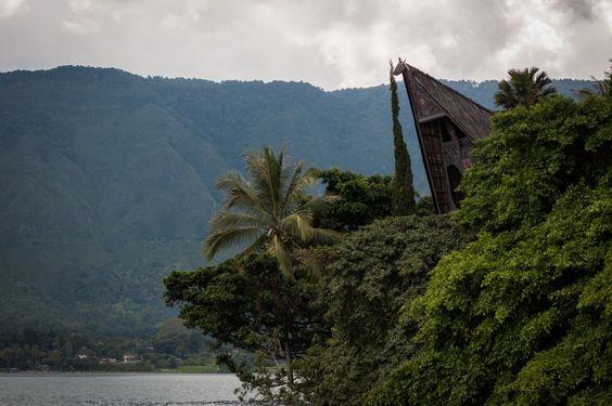 Maison Batak, Tuk-Tuk, Samosir, Lac Toba, Sumatra, Indonésie