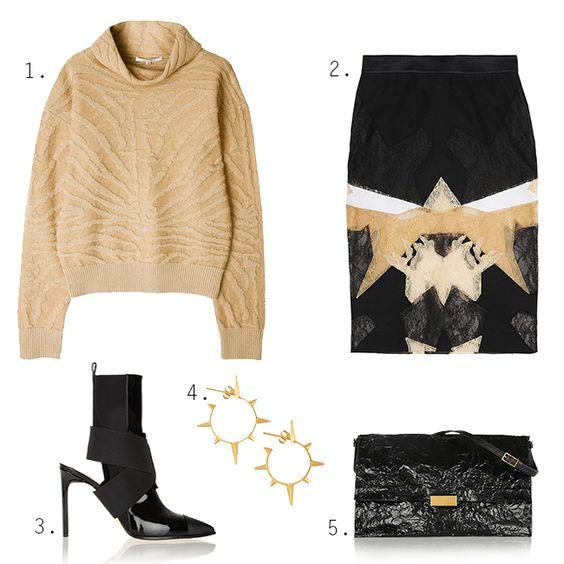 Beige & blacks. #iwish #beige #black #givenchy #reed krakoff #carven #stellamccartney #mariablack