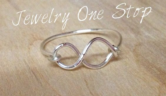 Infinity ring,love you to infinity,infinity jewelry,infinity wire wrap,gift for mom,wedding gift,bridesmaid gift,sterling ring,birthday gift