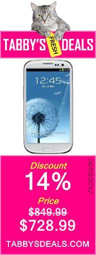 Samsung Galaxy S III/S3 GT-I9300 Factory Unlocked Phone - International Version (Ceramic White) $728.99