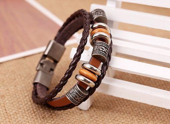Bracelet cuir pour hommes ou femmes