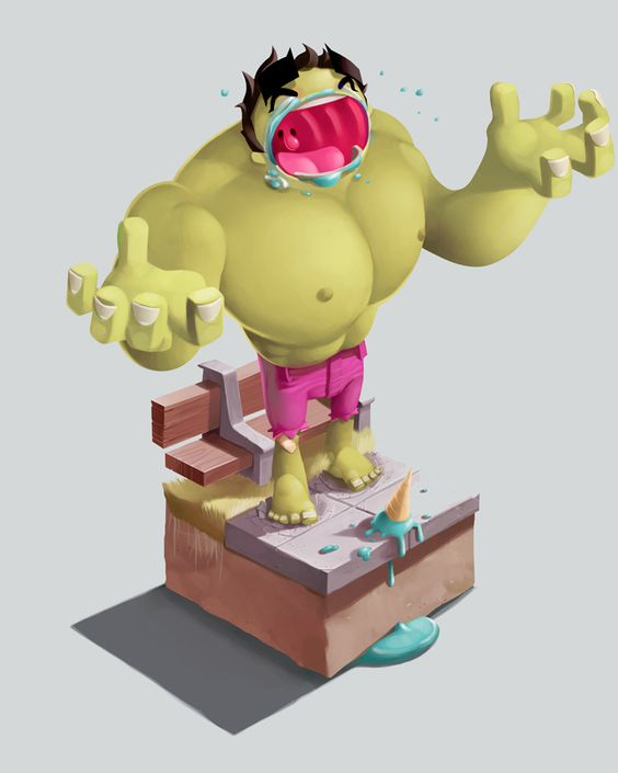 Dont mess with the hulks' sweets