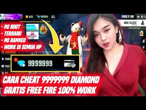 Cara Cheat 9999999 Juta Diamond Free Fire Gratis 100 Work Youtube Aplikasi