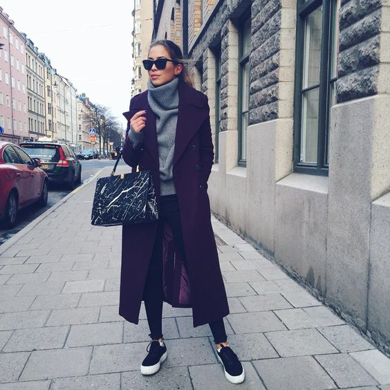 「Stockholm is grey and freezing but at least I've got a nice coat. 」Kenza Zouiten waysify