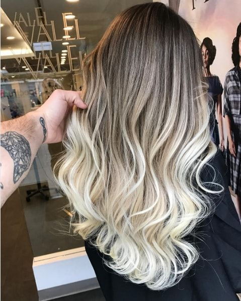 Ombré hair blond polaire , Ombré hair  15 inspirations qui