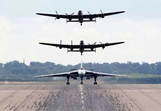 Avro Vulcan and the last two airworthy Lancaster's ....