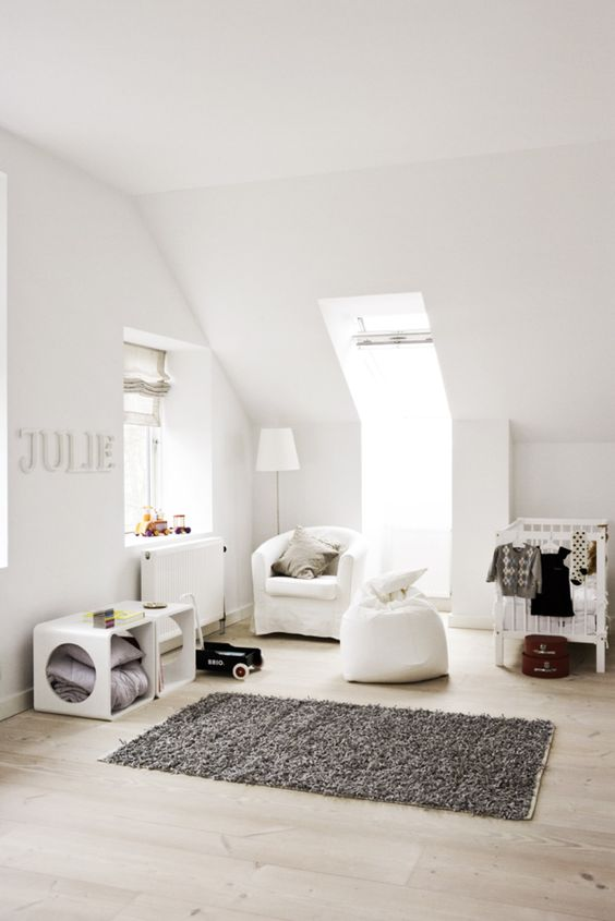 Babyzimmer im skandinavischen Stil gestalten   Beispiel in Schwarz Weiß