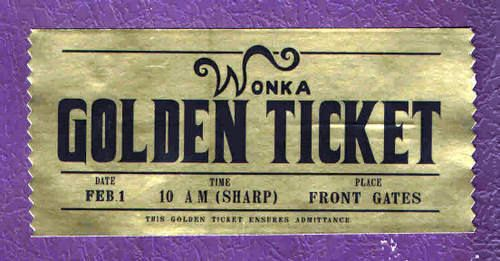 willy wonka golden ticket template - Google Search