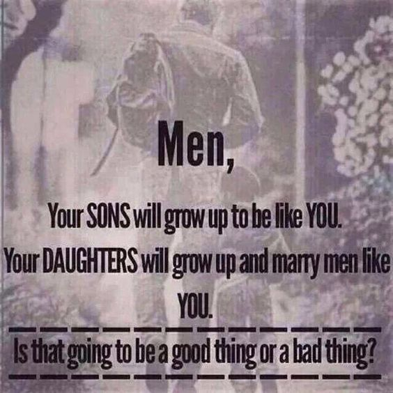 Reminds me of the story you told me about your grandfather and all of his mistresses. What you are raised with is what you become. Chose a woman who will endure it, not a woman with intellect. Chose young girls, not women.