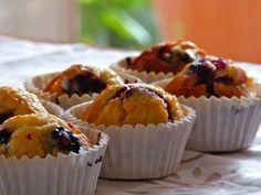 Muffins de arándanos y limón