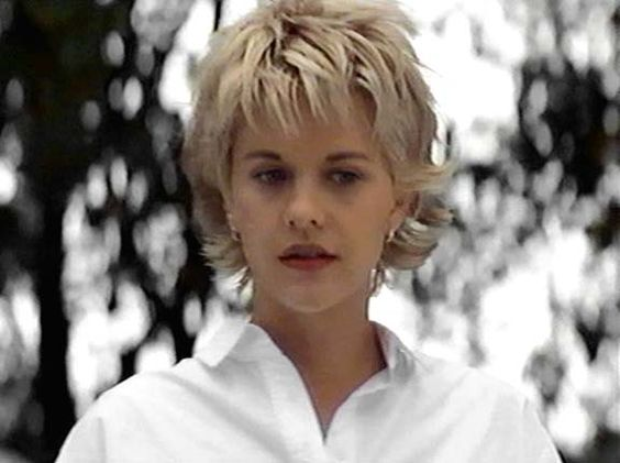 meg ryan with short cool blunt easy new hairstyle in french kiss
