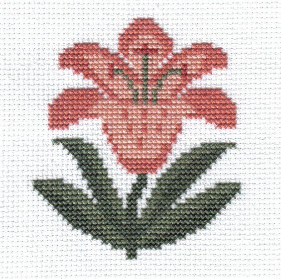 Plantas y jard n puntadas and punto de cruz on pinterest - Punto jardin ...