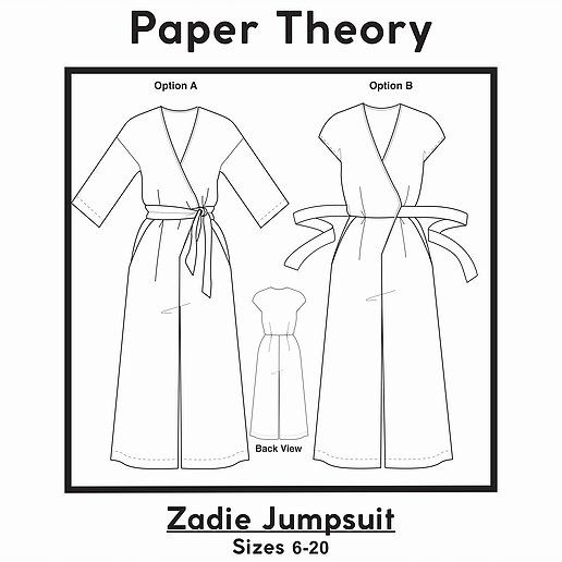 Zadie Jumpsuit Pdf Pattern Jumpsuit Pattern Sewing Jumpsuit Pattern Sewing Patterns