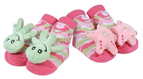 Stephan Baby Go Fish Rattle Socks, Octopus and Pink Starf...
