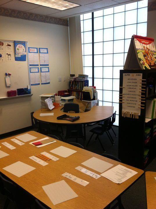 Teacher and small group area no teacher desk