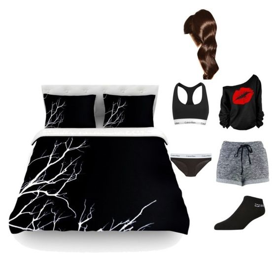 """night night"" by bossome29 ❤ liked on Polyvore featuring Calvin Klein, Calvin Klein Underwear, Billabong and Hershesons"