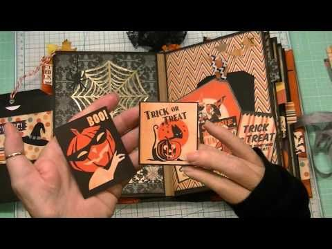 I used Carta Balla's 'Trick or Treat' collection for this album. It is an adorable paper collection and looks great with the Halloween die cuts from Diemond ...