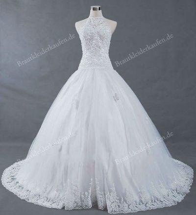 high collar lace wedding dress