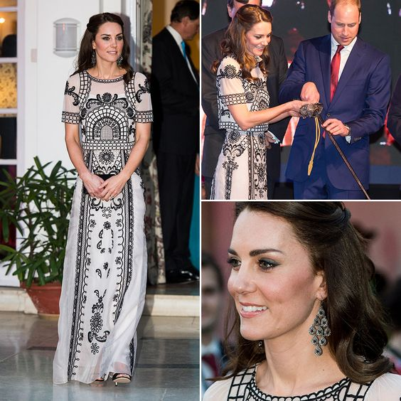 To celebrate the Queen's 90th birthday, the Duchess of Cambridge stepped out in a rather risqué two-piece crop top and skirt by Alice Temperley — one of Kate's favourite designers —and a pair of open-toe sandals.   prima.co.uk