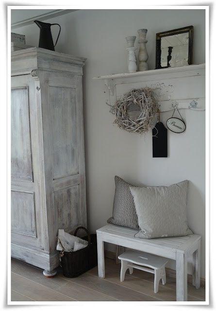 Landelijk wit wonen diele flur pinterest furniture for Decor wonen