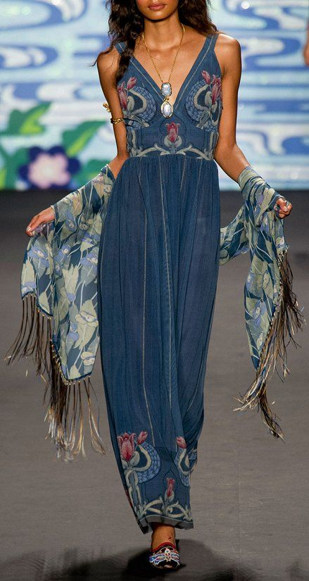 Anna Sui - Spring 2014, asian florals boho styling