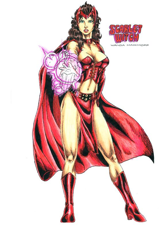The Scarlet Witch (Wanda Maximoff) by kiborgalexic.deviantart.com on @DeviantArt