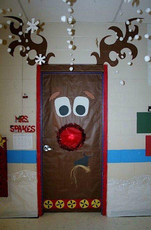 Lavoretti Di Natale Per Addobbare L Aula.Idee Per Decorare L Aula Per Natale Porte Natalizie Door