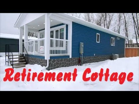 New 16 X 44 Retirement Cottage Mobile Home Tour 2 Bedroom 1 Bath 705 Sq Ft Winnipeg Canada Youtube In 2020 Cottage House Tours Mobile Home