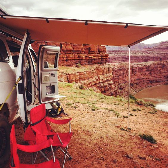 Lunch with a view! Exploring the always breathtaking Moab! #RentThisRig #Sportsmobile #4x4van #offthegrid #offroad #4x4 #overland #adventurerig #staywild #getoutside #exploreeverything #Colorado #Moab #utah #UT #adventuremobile #rvrental #rvlife #theroadlesstraveled!#spreadstoke #overlandexpo #expedition