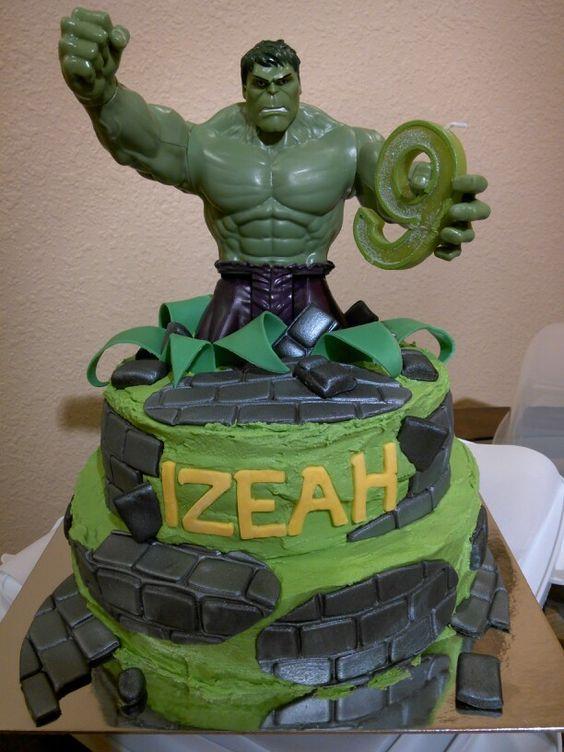 Hulk Cake 6-21-14