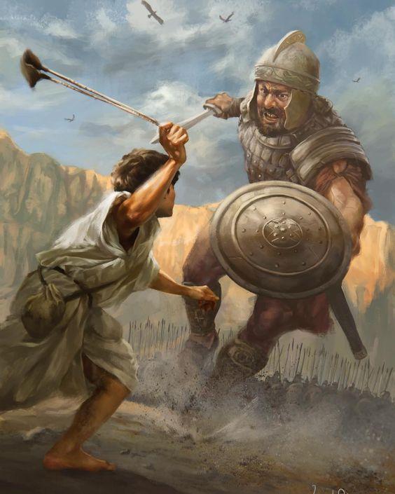 Historia de David y Goliat para niños