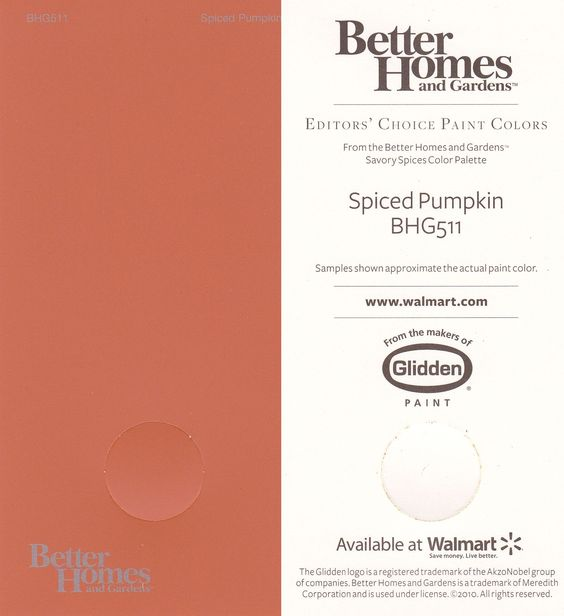 Paint colors spiced pumpkin paint colors pinterest for Pumpkin spice paint living room