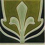 Art Nouveau tiles decorated -  Art Nouveau F 28c