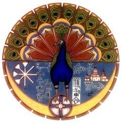 Melek Taus,  o anjo pavão, adorado pelos yazidi. Frequentemente confundido com o diabo pelos muçulmanos da região da pérsia