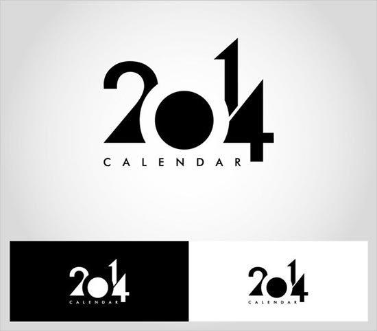 Calendar Inspiration 2014 : New year wall desk calendar designs for