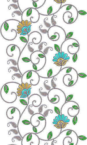 African Clothing Garment Embroidery Design