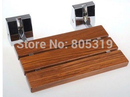 moderne teak houten opklapbare douchezitting, wand douche stoel in deze hoge kwaliteit wand opklapbare douchestoel zal niet alleen stijlvolle look in je badkamer, maar zal ervoor zorgen v van Andere Badkamermeubels op AliExpress.com   Alibaba Groep